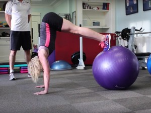 Free Fat Burning Stability Ball Workout for Intermediates