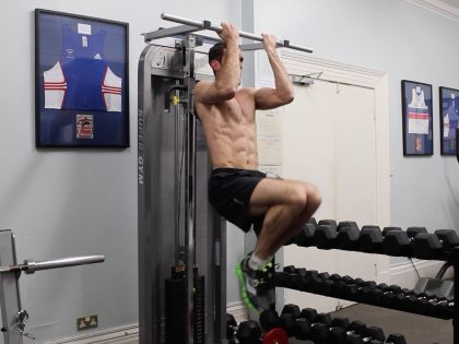 Hanging Bar Crunches